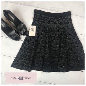 fc96d5f9fe Ivanka Trump Skirts - NWT. Ivanka Trump Pleated Black Textured Skirt S